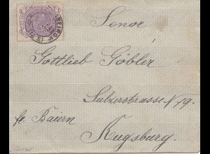 Brazil: 1893: cover to Augsburg