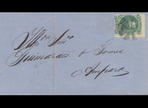 Brazil: 1869: cover to Ampharo