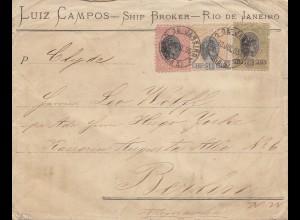 Brazil: 1895 Rio de Janeiro to Berlin