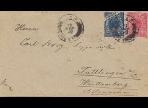 Brazil: 1908: cover via Rio de Janeiro to Tuttlingen/Germany