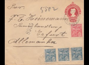 Brazil: 1922: cover to Erfurt/Germany, registered