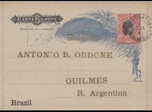 Brazil: carta Bilhete to Argentina