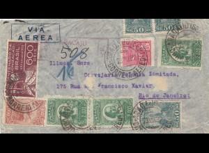 Brazil: 1932: Registered ai Mail to Rio des Janeiro