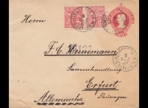 Brazil: 1922 cover to Erfurt