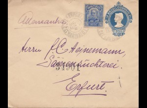 Brazil: 1922: cover to Erfurt/Germany