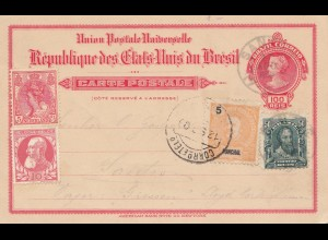 Brazil: 1909: post card Santoo