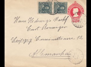 Brazil: 1912: Cover Tristeza to Leipzig