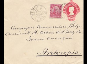Brazil: 1914: Cover Mendes to Antwerpia
