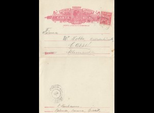 Brazil: carta Bilhete to Kassel/Germany