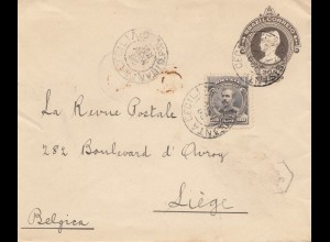 Brazil: 1909: cover to Liège / Belgium