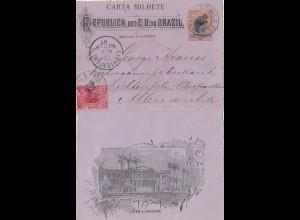 Brazil: 1901: Letter Sao Paolo to Lichtenfelde/Germany
