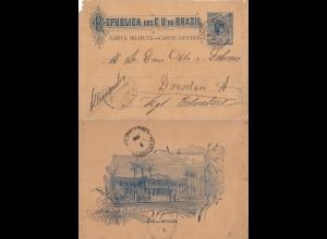 Brazil: 1906: Carta Bilhete to Dresden