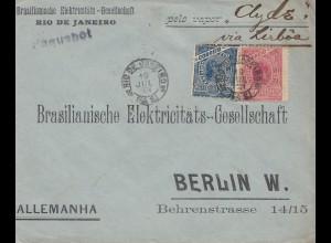 Brazil: 1904: Rio de Janeiro to Berlin - Paquebot via Lisboa