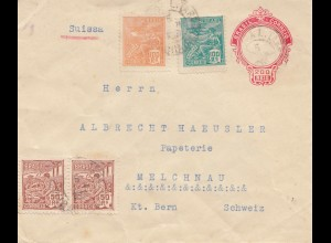 Brazil: 1922: cover to Melchnau/Switzerland