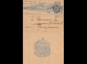 Brazil: 1906: Sao Paolo - Carta Bilhete to Rio de Janeiro