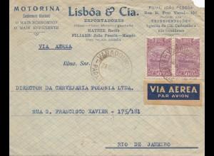 Brazil: 1934: Air Mail cover to Rio de Janeiro