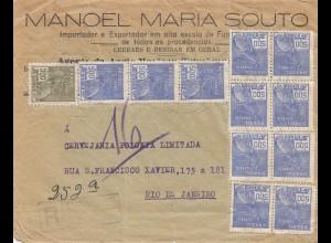 Brazil: 1935: Registered cover to Rio de Janeiro: Super Ale