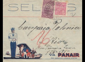 Brazil: 1932: cover via Panair