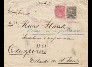 Brazil: 1919: Registered cover to Sao Paulo