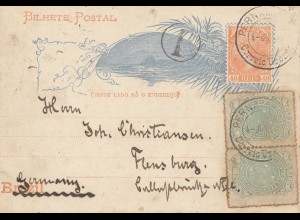 Brazil: 1894: post card to Flensburg/Germany