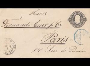 Brazil: 1894 cover via Rio de Janeiro to Paris
