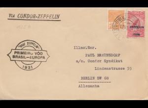 Brazil: 1931 via Condor Zeppelin from Rio de Janeiro to Berlin