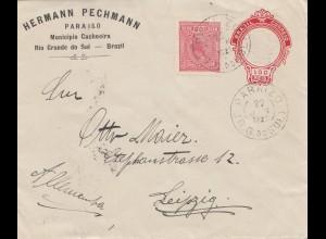Brazil: 1921: Rio Grande do Sul to Leipzig