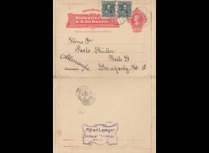 Brazil: 1911: Blumenau to Halle