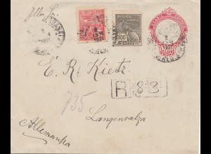 Brazil: 1921: registered cover to Langensalza/Germany
