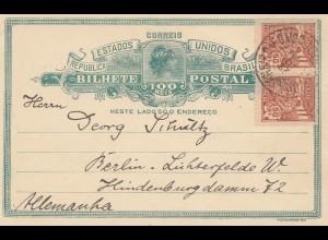 Brazil: Bilhete Postal to Berlin, 1925