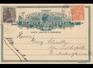 Brazil: 1925: Bilhete Postal to Berlin