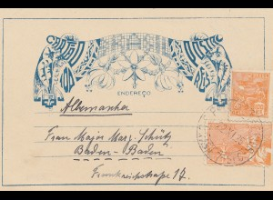Brazil: 1935: post card to Baden-Baden