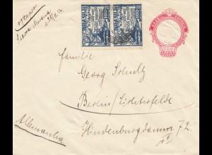 "Brazil: 1917 Schiffspost, befördert, Dampfer (Vapor) ""Sierra Morena"" to Berlin"