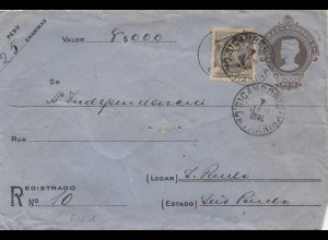 Brazil: 1916: Valor/value cover to Sao Paulo