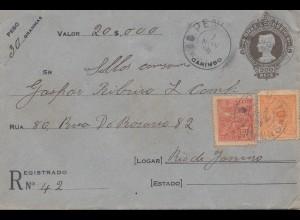 Brazil: 1908: Value -cover to Rio de Janeiro