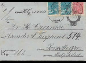 Brazil: 1930: Value letter to Porto Alegre