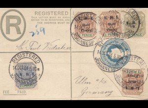 South Africa: 1904: Registered cover to Ulm/Germany