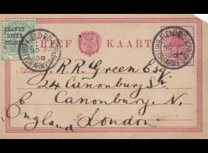 1900: Orange River Colony-post card British Army S-Africa to London