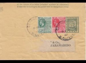 British Guiana: 1912 letter to Paramaribo