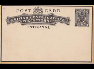 British central Africa - post card no use