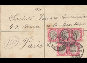 Transvaal 1905: Letter registered Johanisburg to Paris