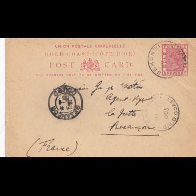 Gold Coast: 1903 Sekondi to France