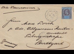 Fiji: 1907: Levuka to Stuttgart