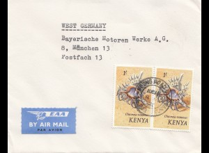 Kenia: 1985: air mail from Nairobi to Munich - BMW