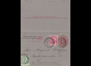 cape of good hope: 1902: letter card to Bremen/Germany