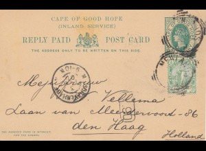 cape of good hope: 1900: post card to den Haag/Holland