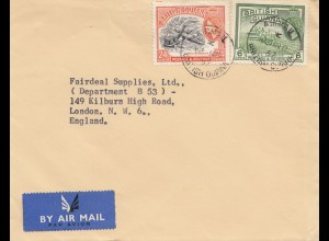 British Guiana 1957: letter to London from Georgtown
