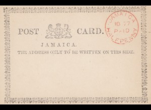 Jamaica Paid - Halfpenny on post card