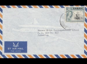 Sabah: Air mail letter to Jeselton