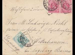 Natal: 1904: Newcastle to Wettenhausen/Germany